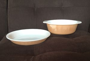 2 Vintage Fire-King Peach Lustre Pieces for Sale in Vienna, VA
