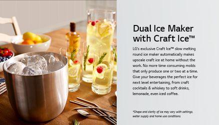 LG COUNTER-DEPTH / CRAFT ICE / Metal Interior / SMART HOME & WI-FI #2150 Thumbnail
