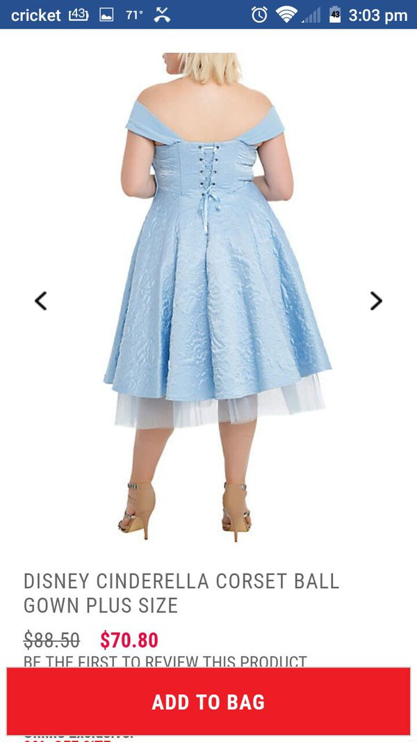 Torrid Cinderella Blue Dress Plus Size 28 For Sale In