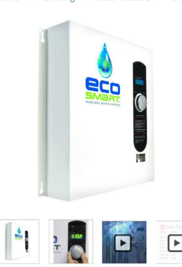 ecosmart 36 tankless water heater for sale in dallas, tx - offerup