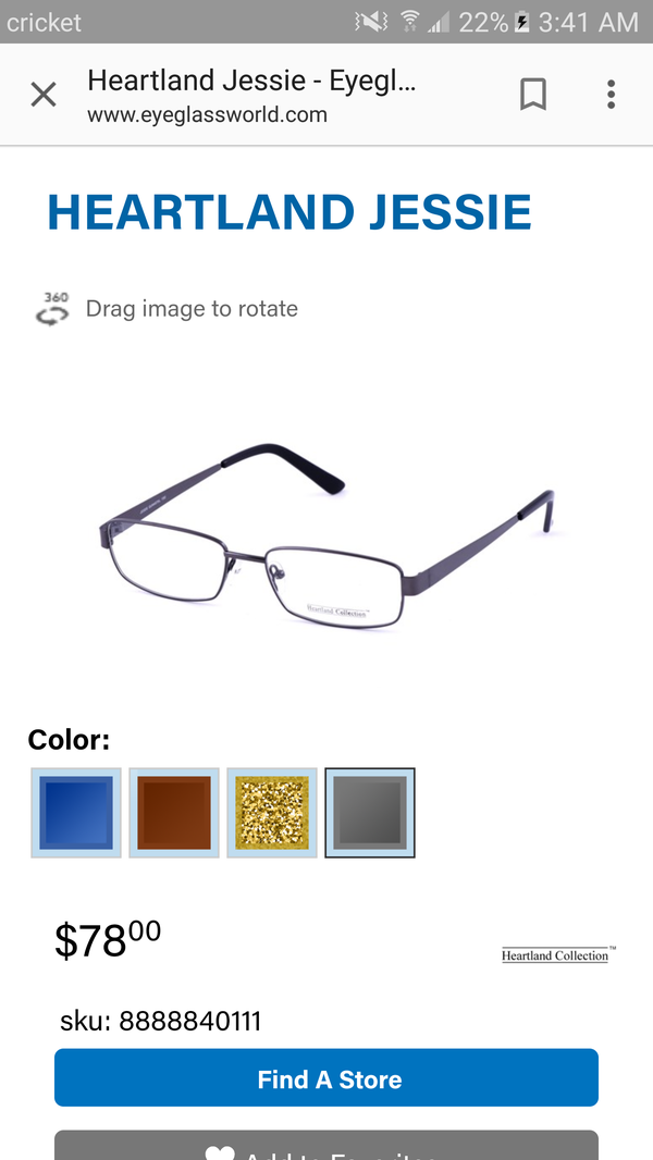 Heartland Jessie(Gunmetal) Eyeglasses for Sale in San Antonio, TX ...