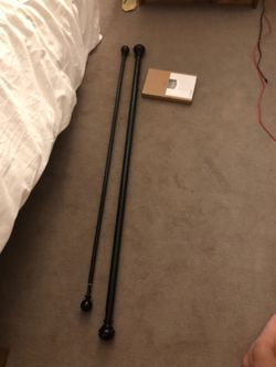 Curtain rods with hardware Thumbnail