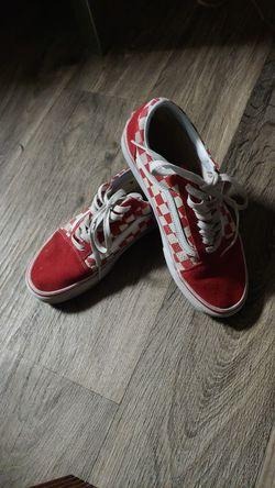 Red vans checkered Thumbnail