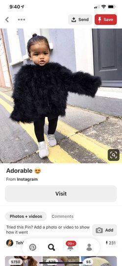 Fur coat for kids Thumbnail