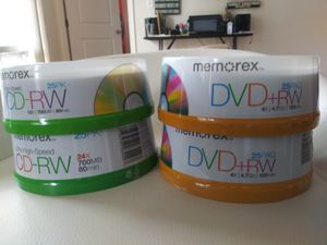 DVD CD RW 120 MIN 25 COUNT for Sale in Fort Washington, MD