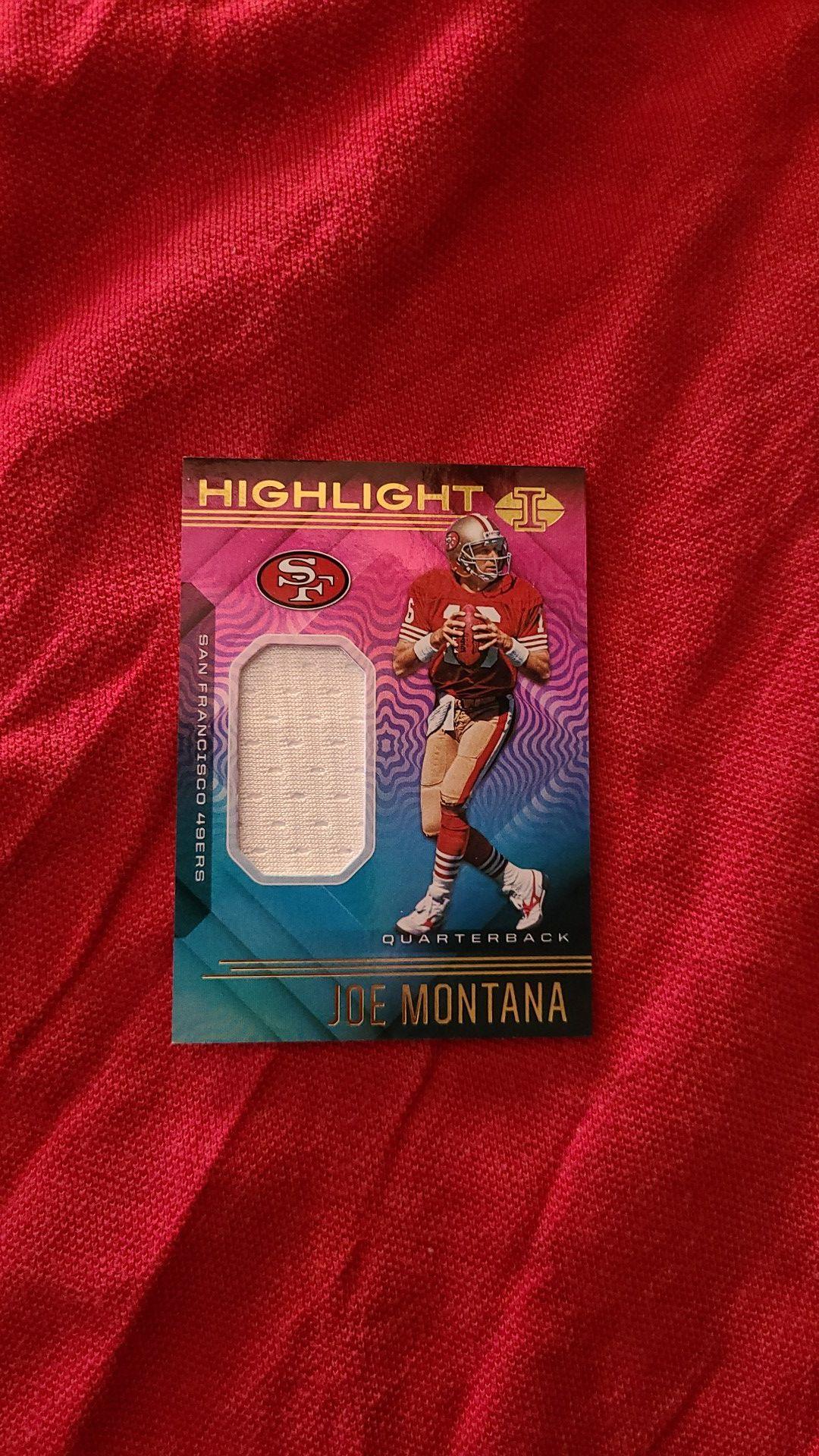 Joe montana illusion jersey football card