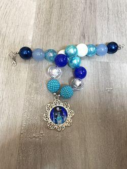 Princess Elsa chunky bead necklace Thumbnail