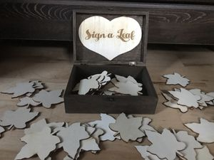 Alternative guest box wedding or party- fall leaf for Sale in Chicago, IL