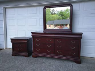 Dresser with Mirror and Nightstand  Thumbnail