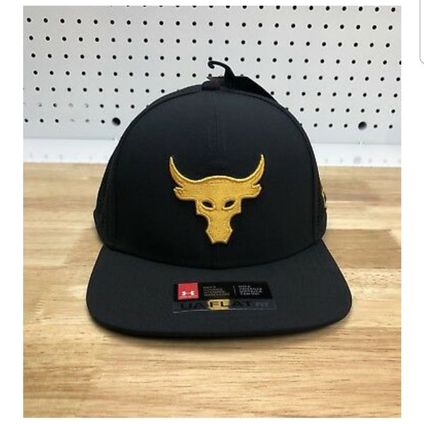 4699dc12a1ec3 The ROCK Under Armour UA X Project Rock Supervent Snapback Hat Cap Black  Yellow for Sale in Compton
