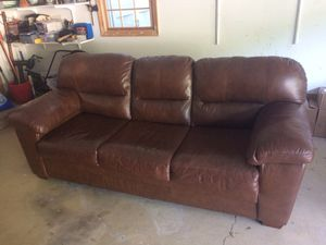 Three seat leather sofa for Sale in Fairfax, VA