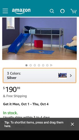 2 months old bed with slide for Sale in Las Vegas, NV