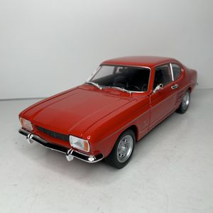 Photo NEW Large 1969 Red Ford Capri Muscle Car Toy Diecast Metal Model Scale 1/24 1:24 124 Vintage 1960s American Classic