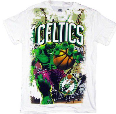 d2ca00d35da893 Marvel NBA mens boston celtics incredible hulk shirt