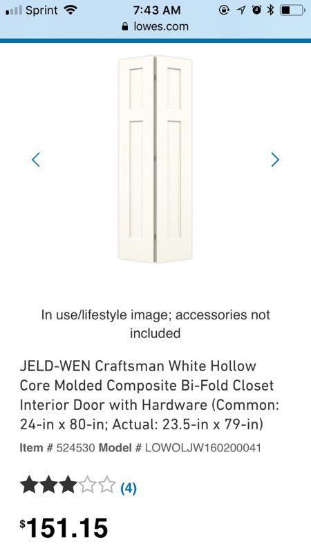 Jeld Wen 24 X 80 Bi Fold Door For Sale In Independence Charter