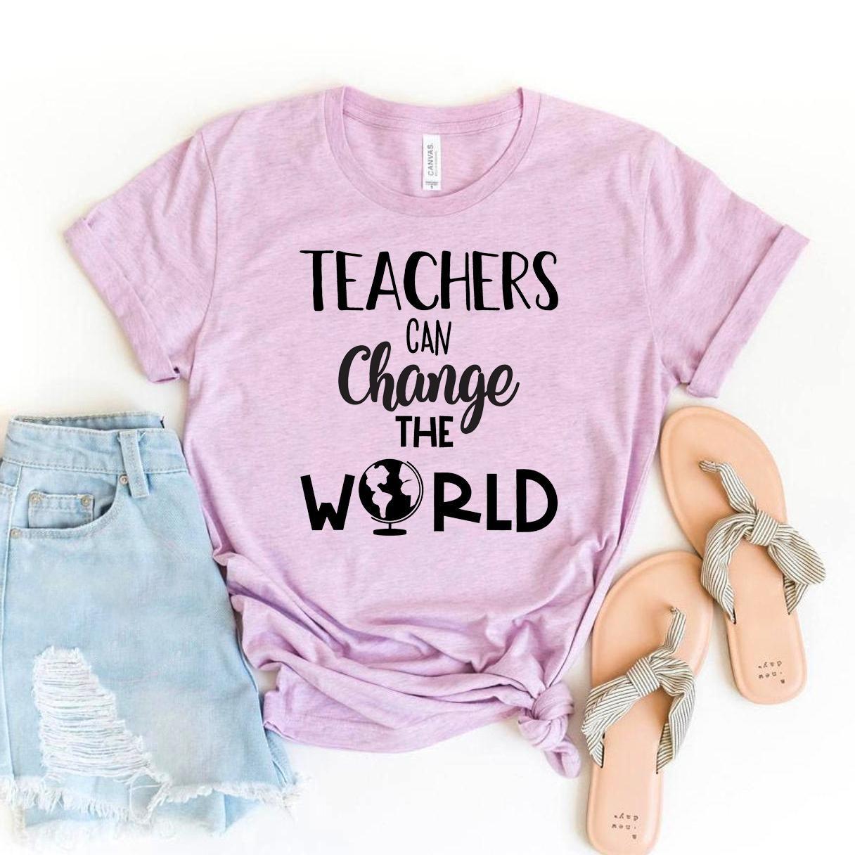Teachers Can Change The World T-shirt, Teaching Gift, Student Shirts, New Teacher Shirt, School T-shirt, Inspiring Size X-Large