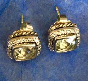David Yurman Albion Prasiolite Diamond Earrings for Sale in Aldie, VA