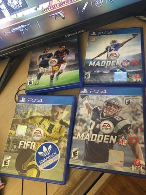 Fifa/Madden 16 & 17 PS4 for Sale in Silver Spring, MD