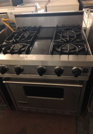 Viking 4 Burner Stainless Steel Gas Range For In San Jose Ca