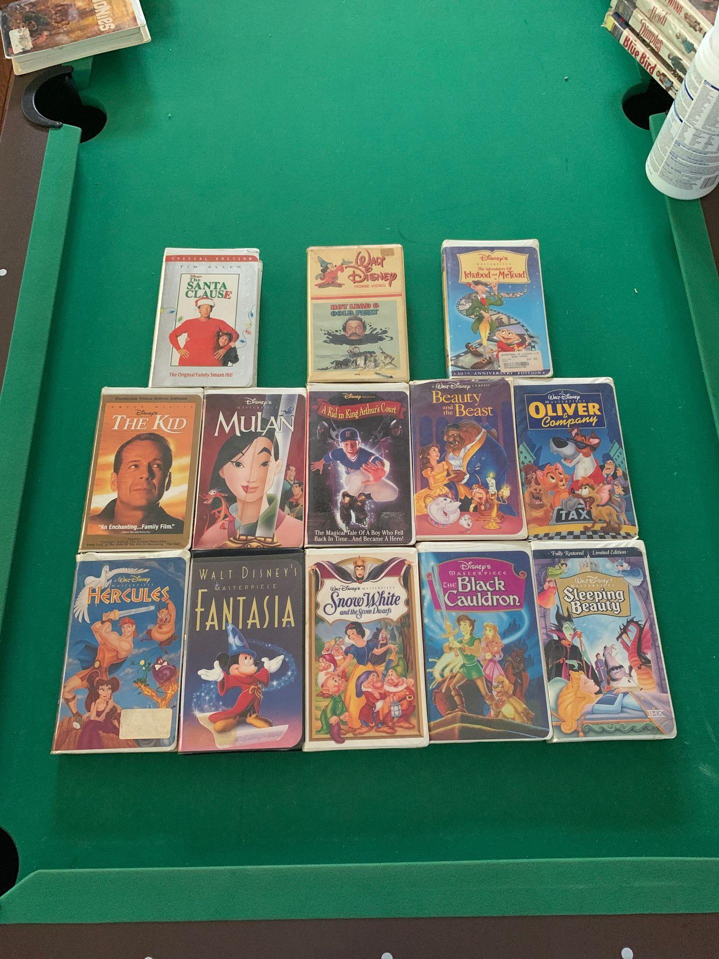 Walt Disney Masterpiece Edition VHS Tapes!!!
