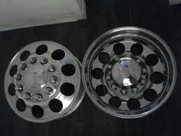 24 Inch Milled Custom Cut Alcoa Dually Rims 6 Rims For Sale In