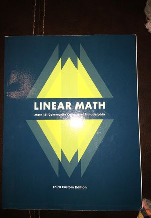 Linear Math Textbook for Sale in Philadelphia, PA