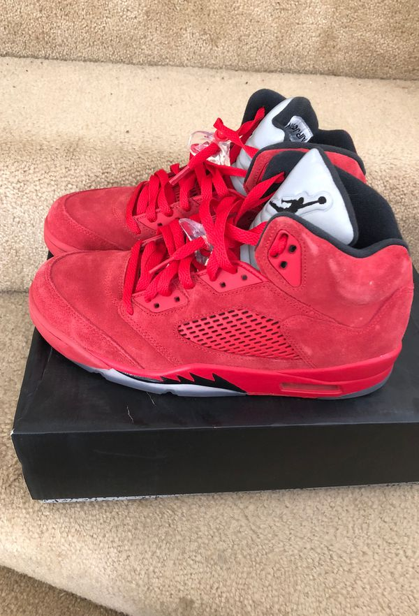 "52eaad6c5739 Air Jordan 5 Retro ""Red Suede"" Size 9 for Sale in West Sacramento ..."