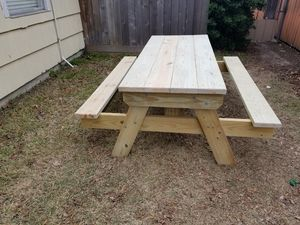 Ft Heavy Duty Picnic Table For Sale Made From Treated Lumber For - Treated lumber picnic table