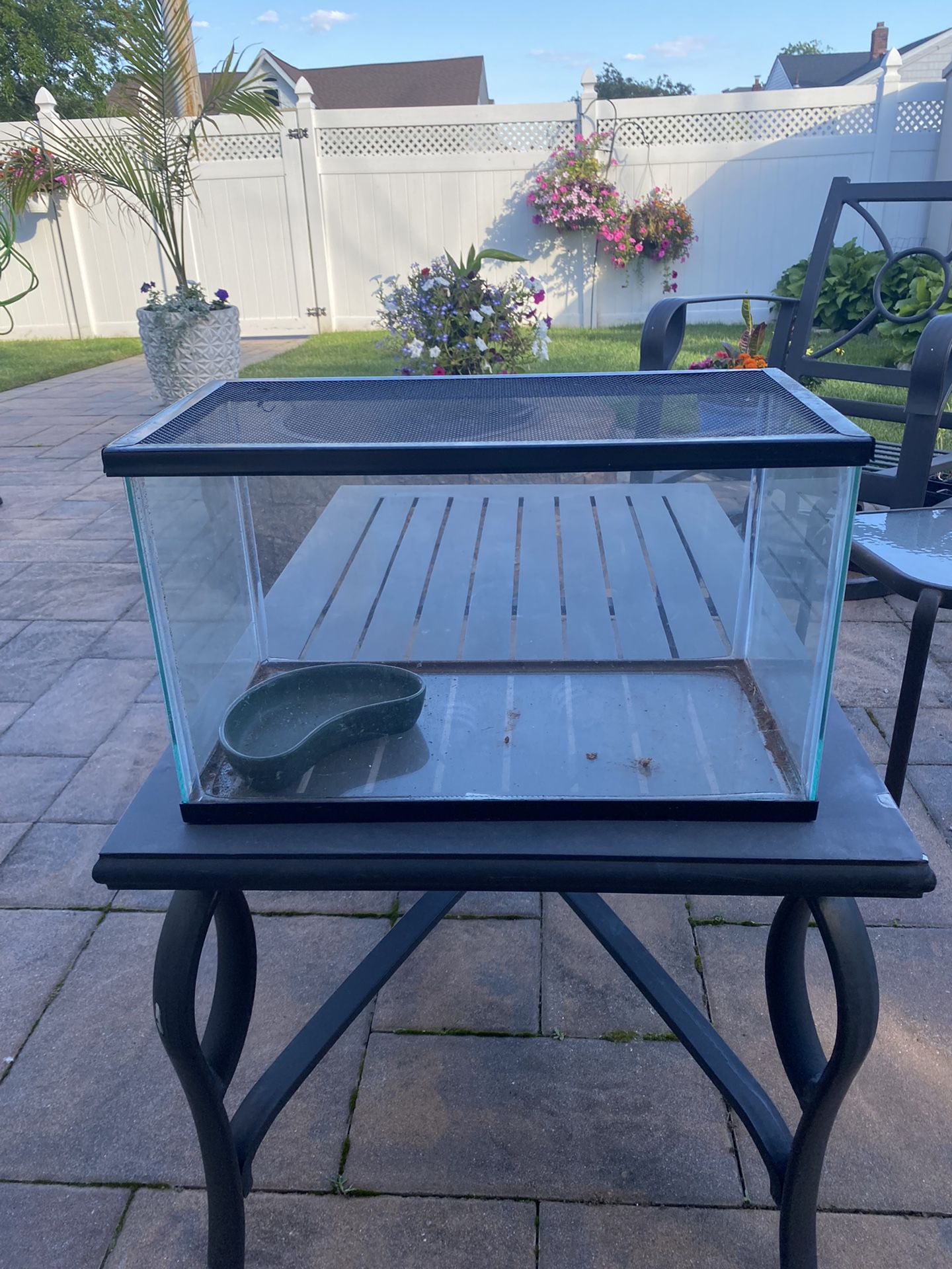10 Gallon Fish Tank With Bowl And Net Top