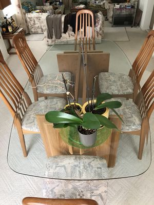 Glass Dining Room Table With 6 Chairs For Sale In Philadelphia PA