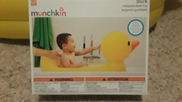 Munchkin Inflatable Duck Bath Tub (Baby & Kids) in Winston-Salem, NC ...