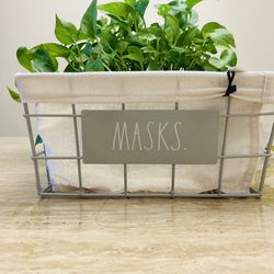 RAE DUNN MASKS Entryway Basket 🧺  Thumbnail