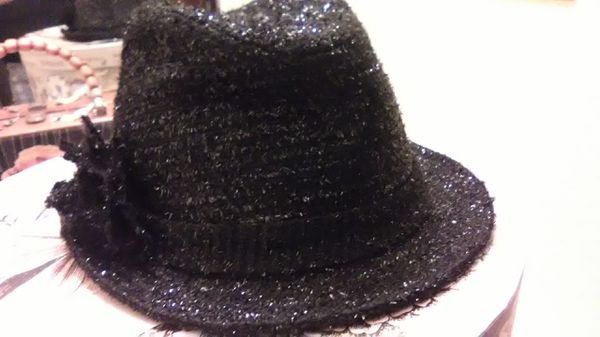 Black Sparkly lady s Fedora hat for Sale in Tacoma 898db53585c