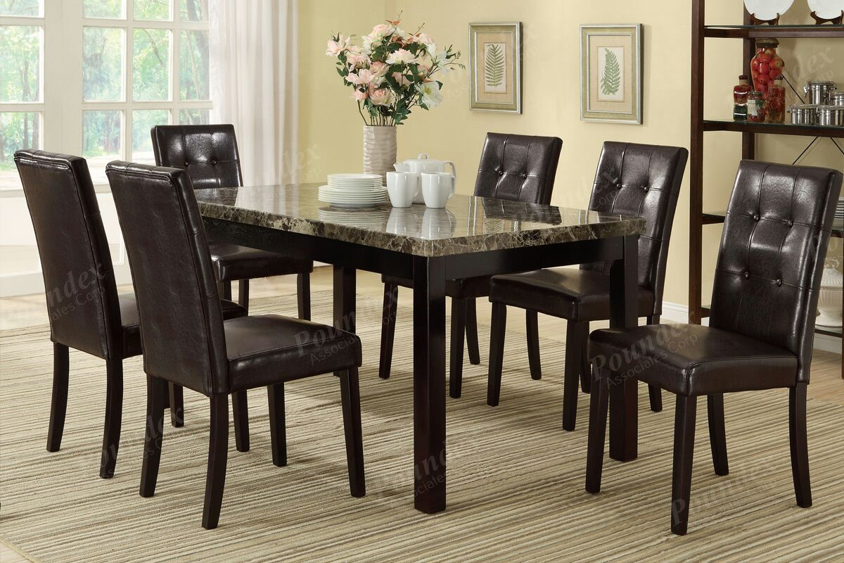 New counter height marble top table with 4 chairs