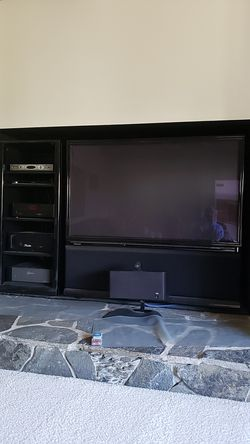 """Pioneer Elite 62"""" HDTV in Perfect Condition w/ matching stereo cabinet Thumbnail"""