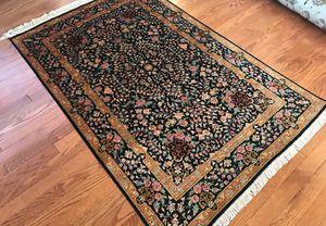 Genuine handmade 100% silk signed Persian Qum rug 3x5 for Sale in Rockville, MD