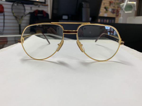 6e2df937d53b Vintage Cartier Vendome Laque Gold Metal Optical Glasses for Sale in ...