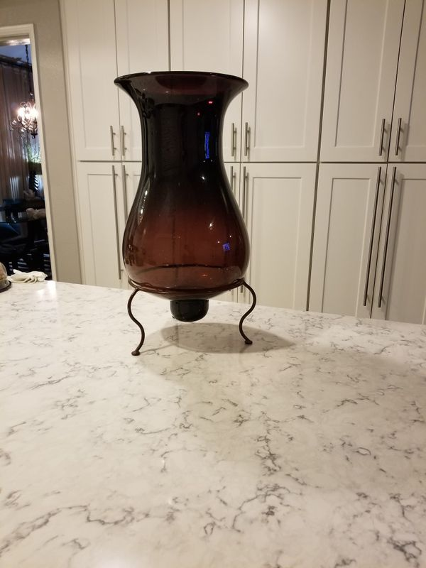 X Large Glass Vase Or Large Candle Holder 2 Feet Tall For Sale In