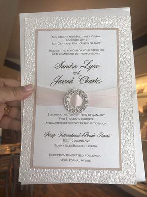 Beautiful wedding invitation for Sale in Miami, FL