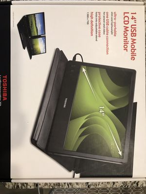 """Toshiba 14"""" USB Mobile LCD Monitor for Sale in Mesa, AZ"""