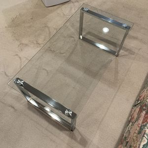 *Brand New* Luxury Glass Coffee Table w/ Chrome - MSRP $399.99 for Sale in Ijamsville, MD