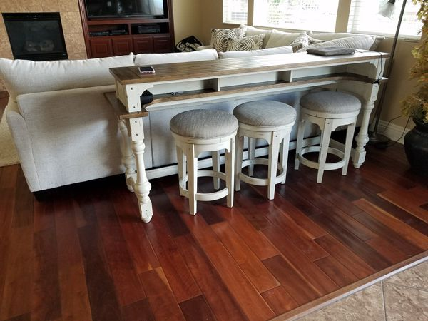 Superb Morgan Creek Console Table And Stools For Sale In Riverside Alphanode Cool Chair Designs And Ideas Alphanodeonline