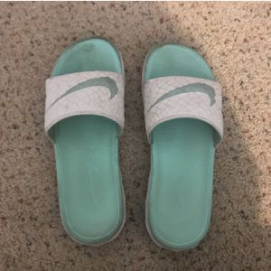 Mint green Nike slides for Sale in Columbus, OH