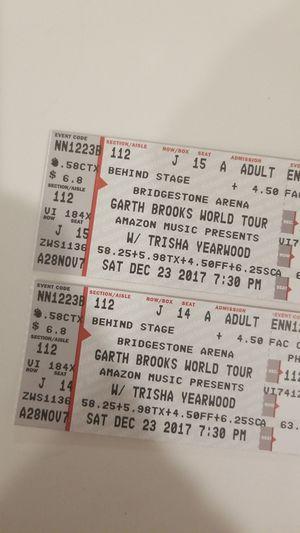 Garth Brooks Saturday dec. 23 for Sale in Nashville, TN