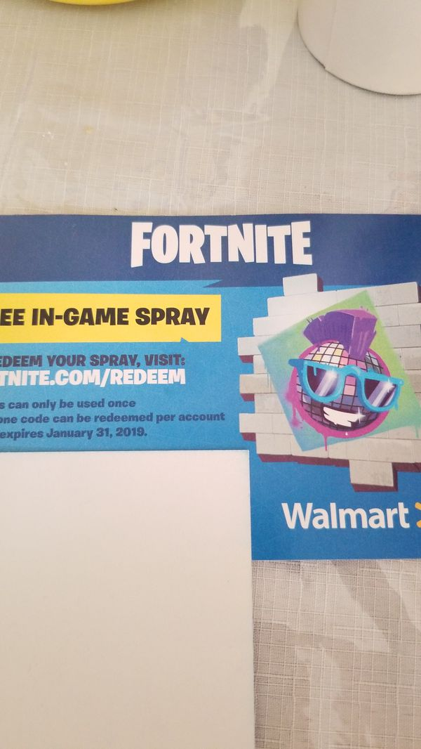 Fortnite exclusive Walmart Spray for Sale in Paramount, CA - OfferUp