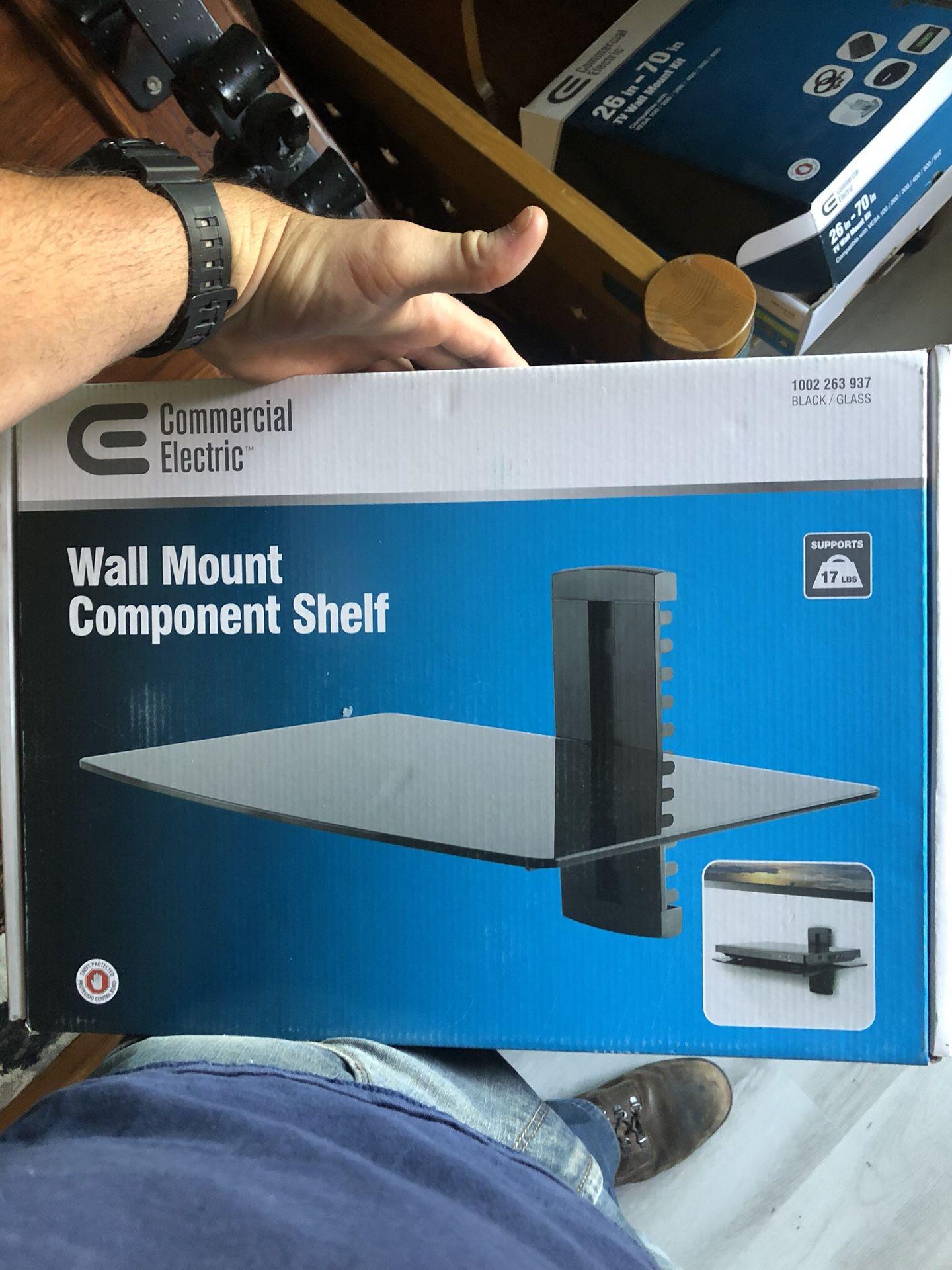 Component wall shelf