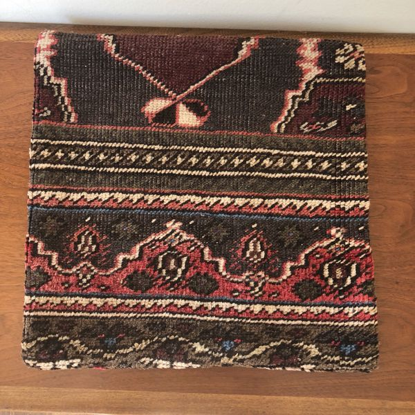 """Turkish Kilim pillow cover / fits a 14"""" square pillow / eclectic ..."""