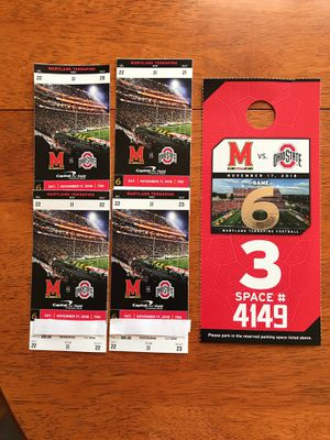 Ohio State-Maryland Football Ticket Package for Sale in Leesburg, VA