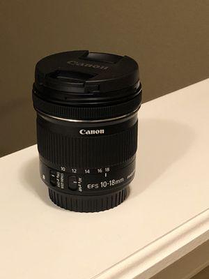 Canon EF-S 10-18mm f/4.5-5.6 lens for Sale in Polk City, FL