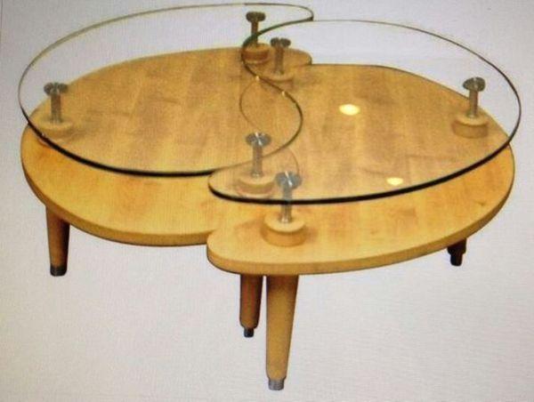 Yin Yang Glass Coffee Table 6